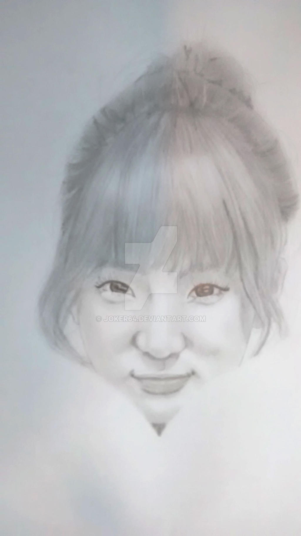 Joo Min Hee Black and white (quickdrawing) by Joker64