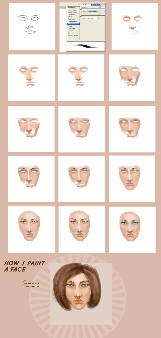 How I Paint A Face ... Again by dr-runcible