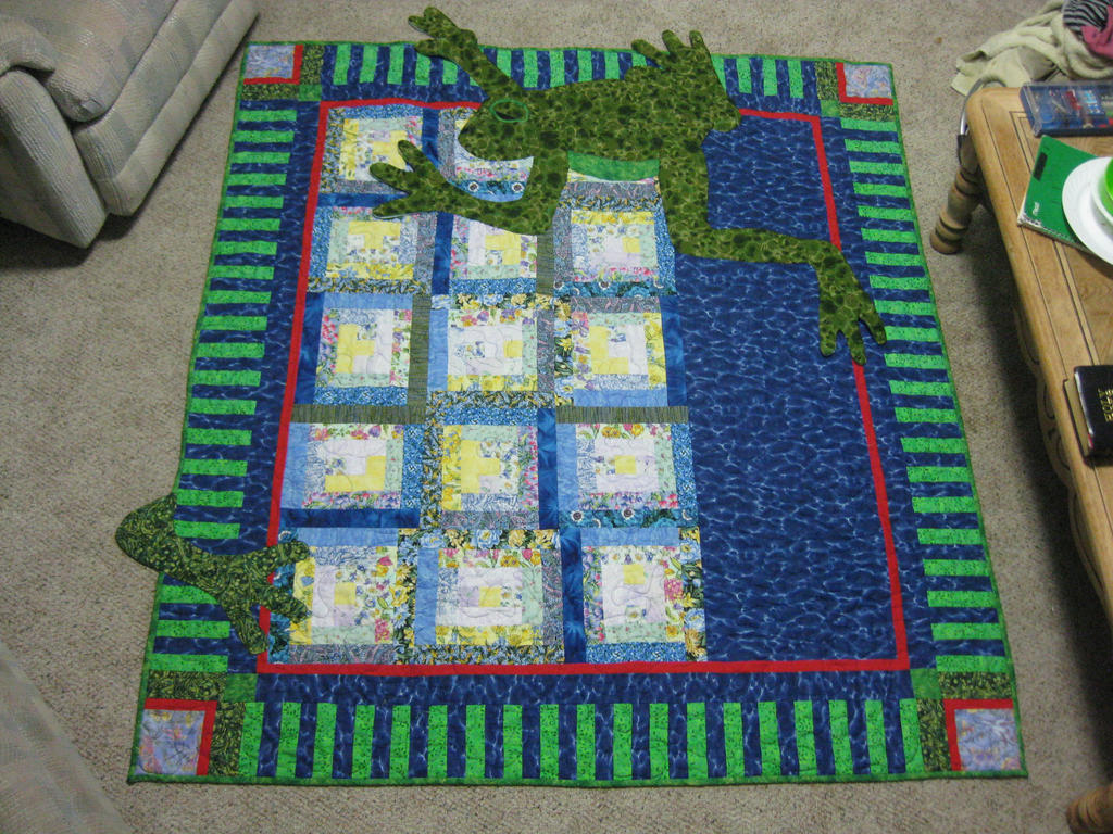 Frog Lap Quilt by lost-angle