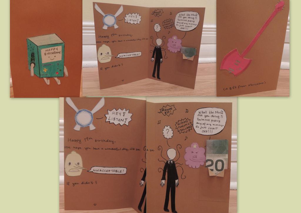 Mostly Adventure Time Birthday Card By Jjaystar94 On Deviantart