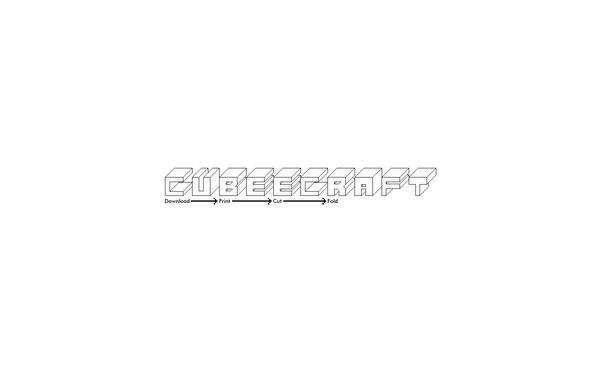 Cubeecraft logo wallpaper