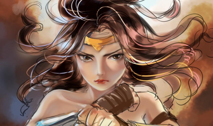 Wonder Woman closeup by milysnow
