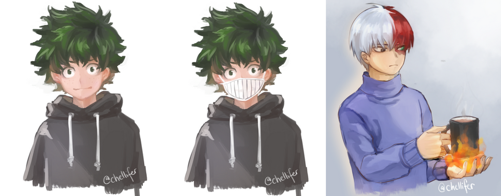 bnha sketches by milysnow