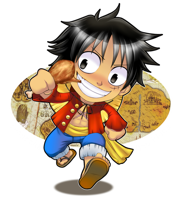 Anime Guide To Hiragana: Comm. Monkey D. Luffy By Fannochka On DeviantArt
