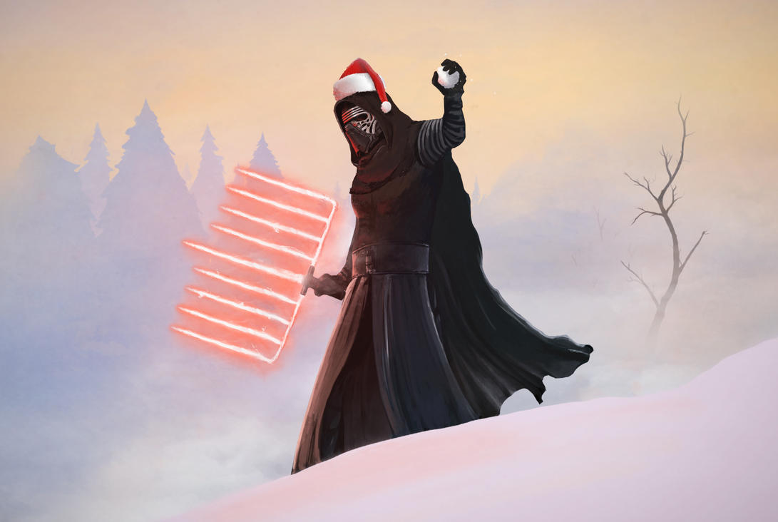 Holiday Kylo Ren by Pandazoic