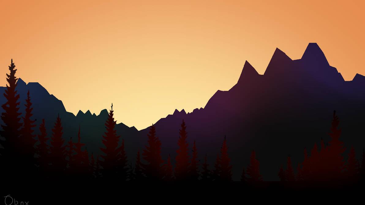 Vaporwave Forest V2 Wallpaper