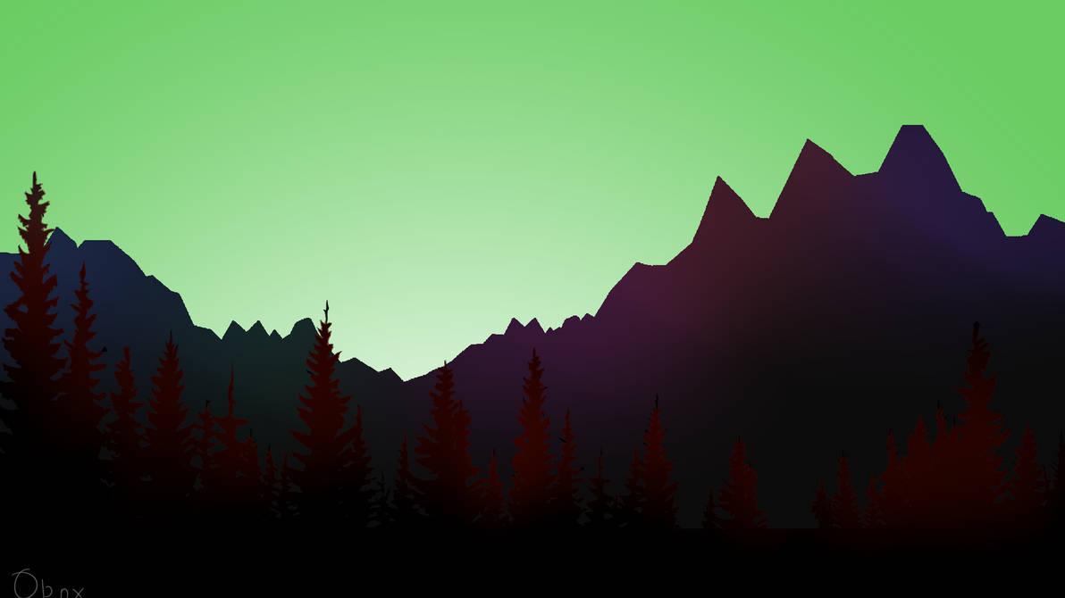 Vaporwave Forest V3 Wallpaper