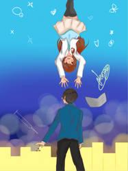 OC - Hitomi and Yoru by SenpaiOrKouhai