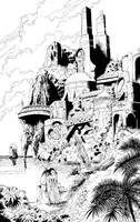 Fantastic Landscape by Anubiscomics