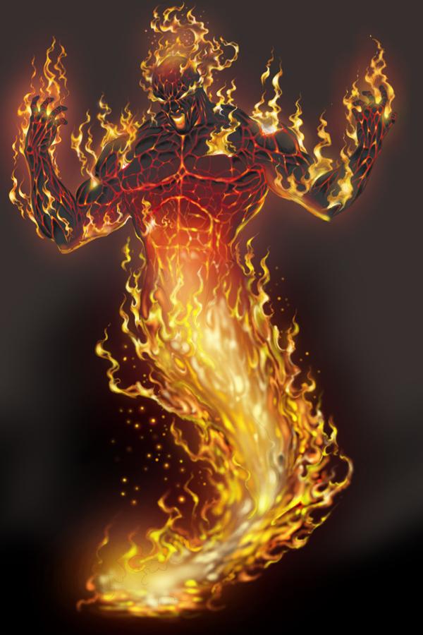 Fire elemental by Anub... Cool Grim Reaper Drawings