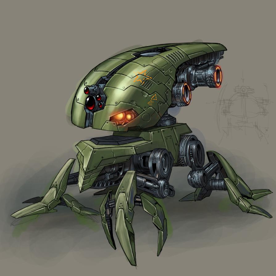 robot concept by Anubiscomics