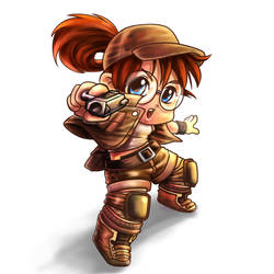 FIO Metal Slug Fanart by Claudiney