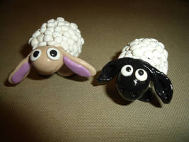 fimo moutons by ladyanwynn
