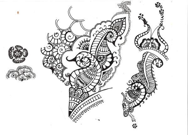 Henna Designs On Paper Tumblr Henna design 4 + 5 by