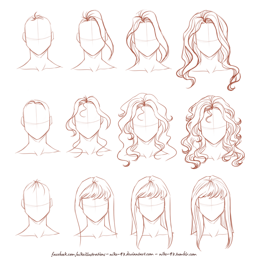 How I draw long hair by NikeMV on DeviantArt