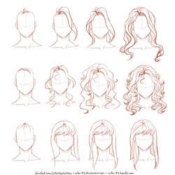 How I draw long hair by NikeMV