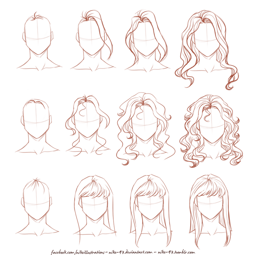 How I draw long hair by NikeMV on DeviantArt