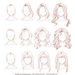 How I draw long hair