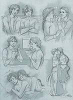 Commission 105 - Ezra/Rhys sketchpage by NikeMV