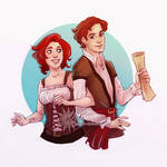 Commission 131 - Lisbeth and Caspar