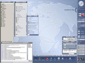 My Pixxy Desktop w- WorkShelf by vectornut