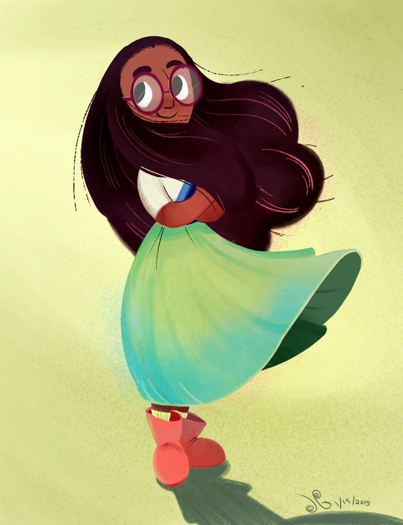 Some Steven Universe fanart with Connie. I have a soft spot for nerdy girls characters.