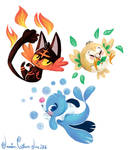 Generation 7-Sun and Moon Starters