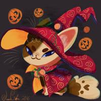 Witch Cat by JessieDrawz