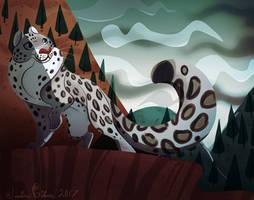 Snow Leopard by JessieDrawz