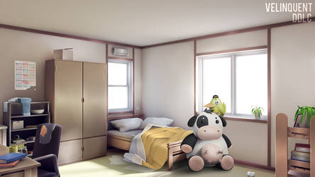 Sayori room by VelinquenT