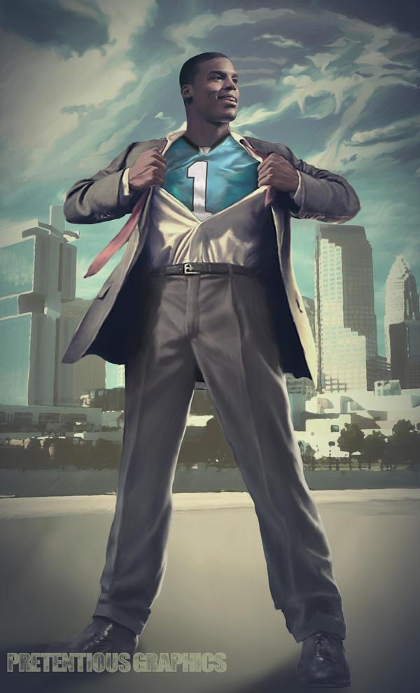 Superman Cam Newton by jai4president