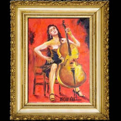New Painting Released - The Cellist