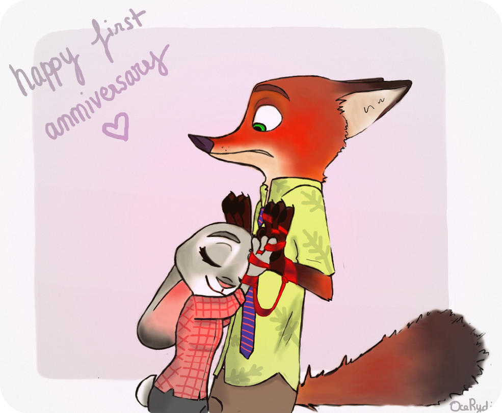 Happy First Anniversary Zootopia ! by OceRydia