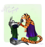 Request - Wolfmeyer pinching noses by OceRydia