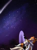 Summermonth week #4 art #1 - Under the stars by OceRydia