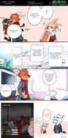The sleeping fox (A Great Hugs War comic page)