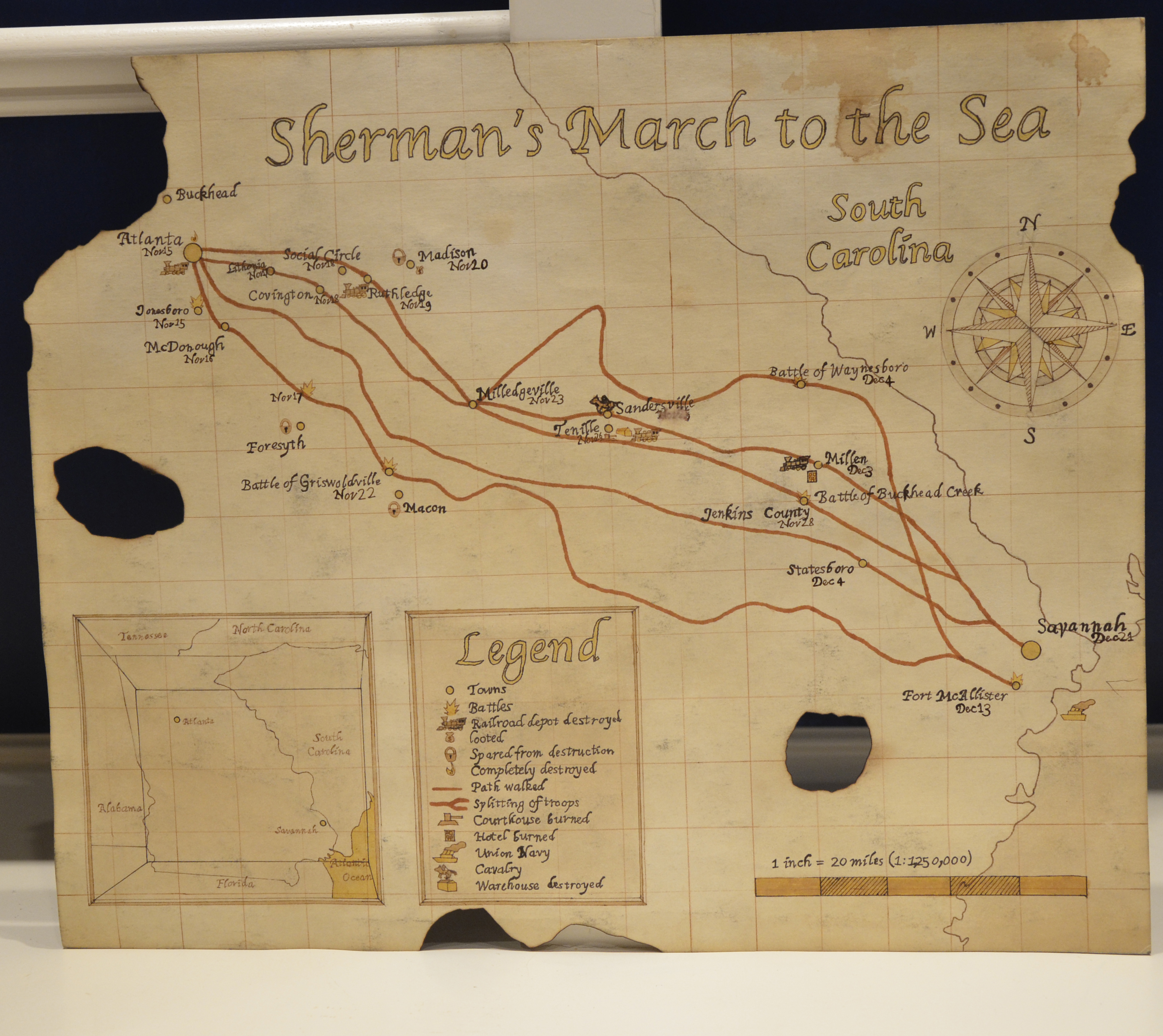 """the details of the infamous shermans march to the sea and its impact • students will be able to provide details of sherman's """"march to the sea"""" in 1864 effectiveness and ethical nature of a total war approach sherman's."""