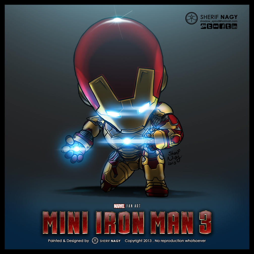 Chibi mini iron man 3 by sherifnagy on deviantart - Mini iron man ...