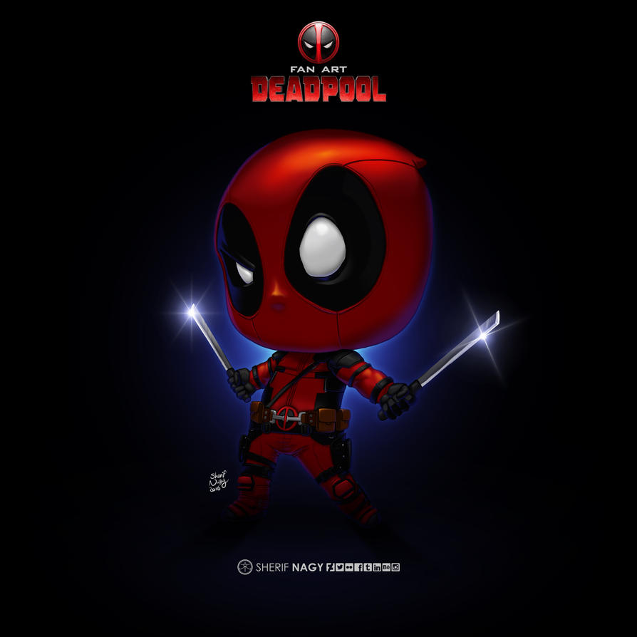 Deadpool fanart by SherifNagy