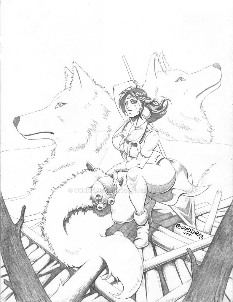 Princess Mononoke by ConradRuiz