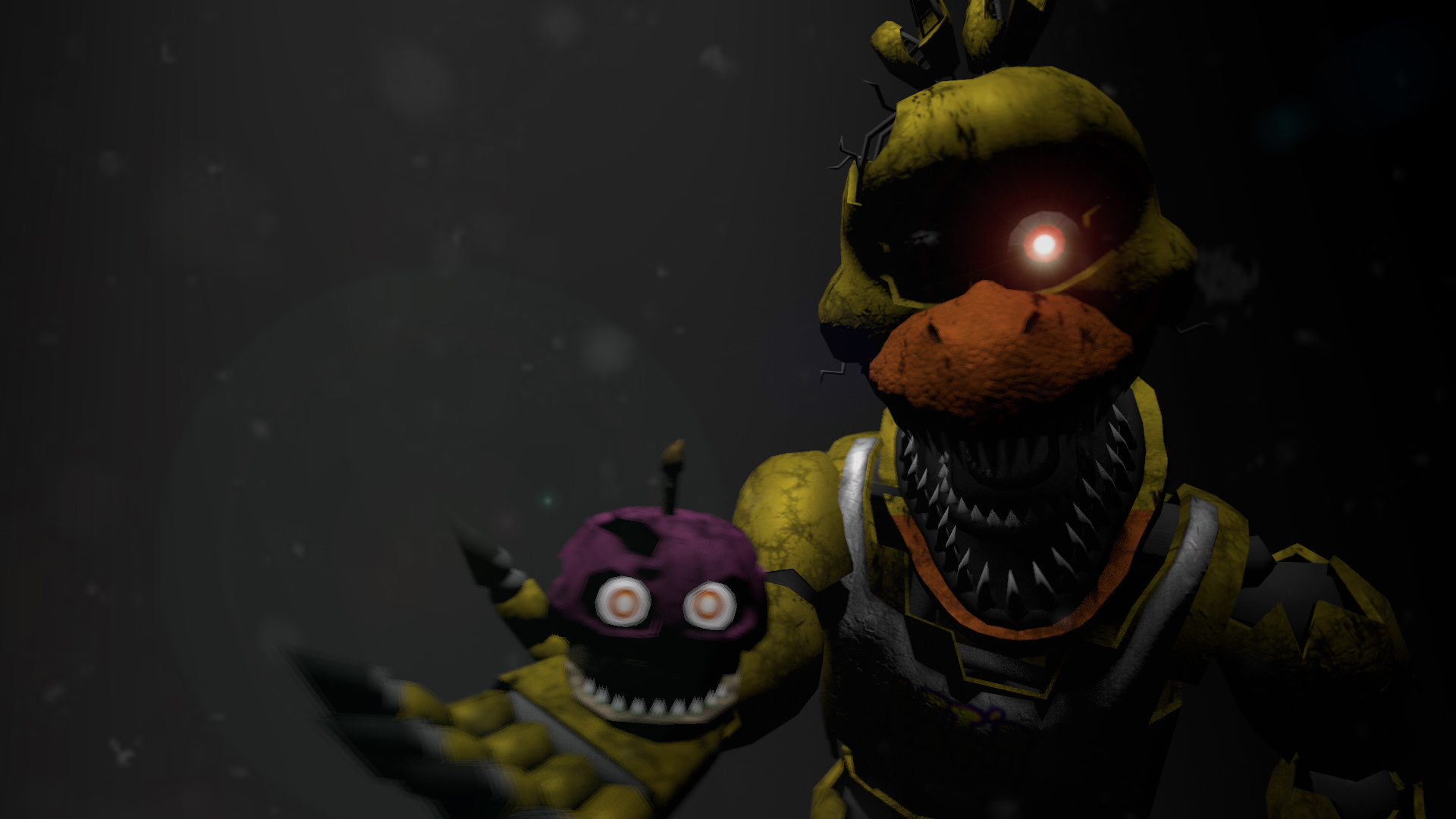 Nightmare chica poster by firerelly on deviantart
