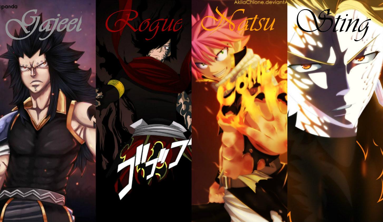 Natsu and Gajeel VS Sting and Rogue by RogueHades on ...