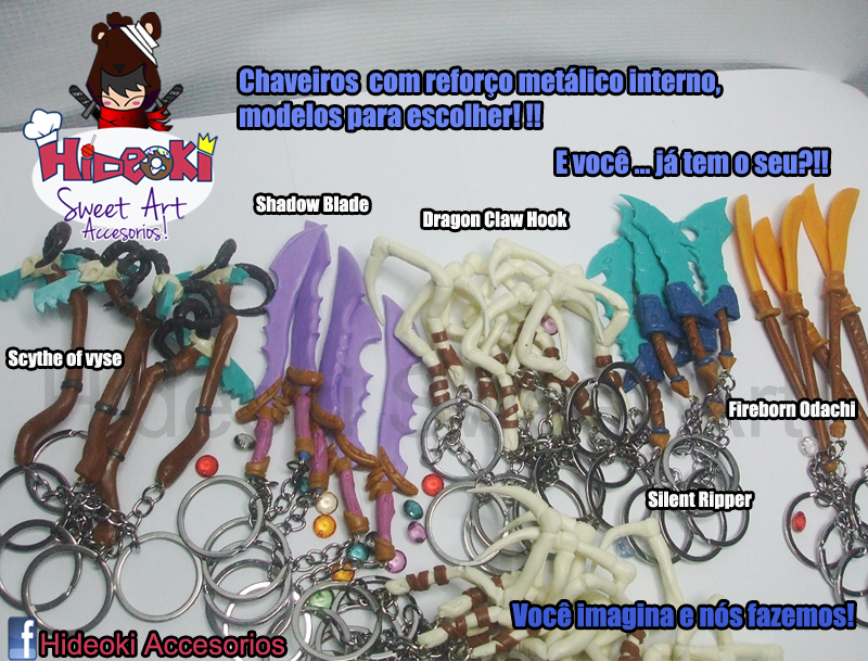 Dota2 weapon keychains!! by Hideoki