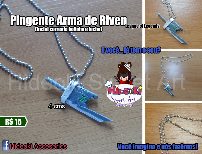 Riven's Weapon necklace League of Legends by Hideoki