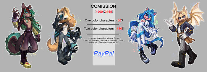 Commission Paypal: OPEN!!!