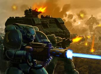 Space marine Warhammer 40K by ARTRIAD