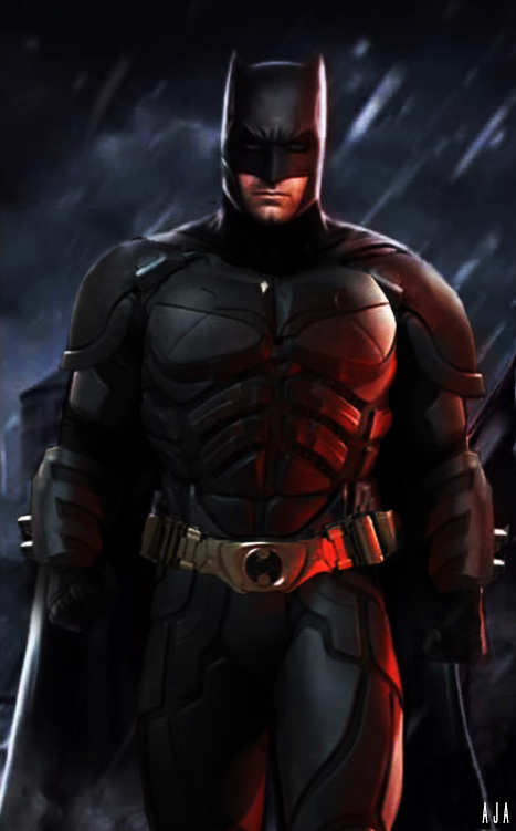 Ben affleck with christian bale 39 s batman suit by - Ben affleck batman wallpaper ...