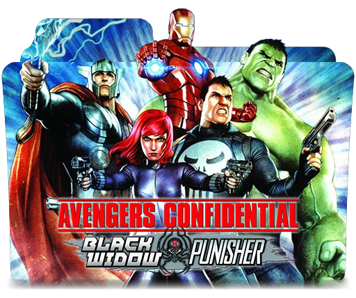 Avengers Conf Black Widow And Punisher Icon Folder By