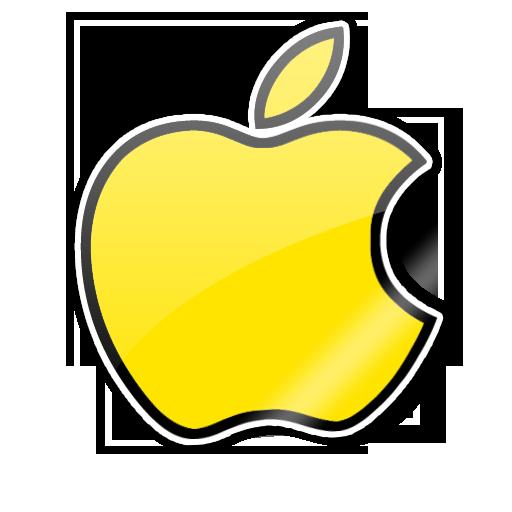 Yellow Apple Stciker by pygoscelis on DeviantArt