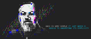 unix / guy ritchie ansii banner by siliconSwordz